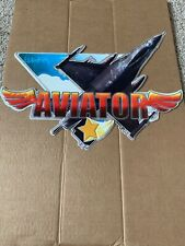 Aviator Collectable Tin Wall Decor, 18 inches width, 17 inches plane size.