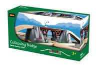 BRIO 33391 Collapsing Bridge Wooden Train Railway Bridges inc 3pcs Age 3 years+