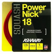 Ashaway Powernick 18 Red Squash Racket String - 9m Set