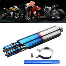 32mm Universal Motorcycle Vehicle Machine Rotating Exhaust Muffler Pipe Silencer
