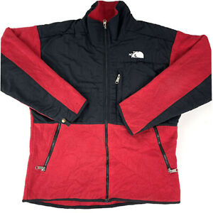 The North Face Men's Full Zip Red And Black Fleece Jumper Jacket  Size M