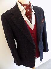 """Ralph Lauren Homme Anthracite Bleu Multi Carreaux Laine Tweed SPORTS Veste Blazer 38"""""""