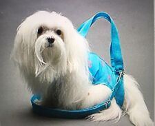 Turquoise pink palm trees pet small dog carrier harness sling puppy purse