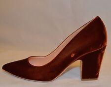 Rupert Sanderson brown Pierrot velvet point-toe pumps UK5/EU38