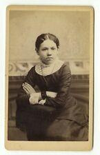19th Century Fashion - 1800s Carte-de-visite - A.E. Taylor of Clinton, Wisconsin