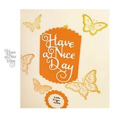 Have A Nice Day Word Die Metal Cutting Dies Scrapbooking for Card Making Craft