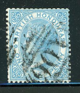 BRITISH HONDURAS Used Selections: Scott #1 1p Blue VICTORIA UNWMK CV$72+