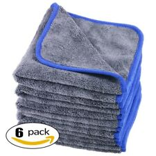 Car Cleaning Cloths Thick Plush Microfiber Towels Care Wax Polishing Detailing