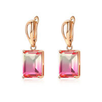 1pair Fashion Women Lady Elegant Crystal Rhinestone Ear Stud Jewelry Earrings