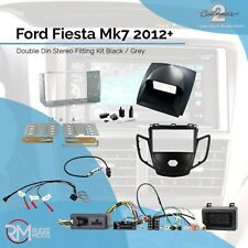 Connects2 Ford Fiesta Mk7 2012 on Double Din Stereo Fitting Kit Black / Grey