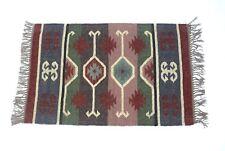 Hand-woven Floor Kilim Rugs  2x3- Jute Area Rugs Hand loomed Rustic Jute mats