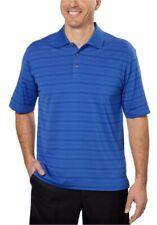 Mens XXL Pebble Beach Blue Stripe Performance Pima Cotton Polo Golf Shirt