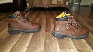 timberland pro helix 6 alloy toe anti fatigue waterproof, men's size 6.5W boots