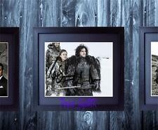 Game Of Thrones Kit Harington Rose Leslie SIGNED AUTOGRAPH FRAMEd REPRO PHOTO