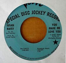 NORTHERN SOUL - SUSAN RAFEY - YOU MADE ME LOVE YOU - VERVE 45 - BLUE LBL PROMO