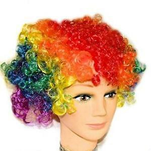 Gay Pride Wig Rainbow Curly Wig Pride Festival and Clown Event