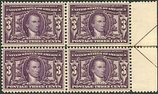 #325 Margin Blk/4 Arrow Right Hinged @ Selvage Vf Og Nh W/ Small Pen Mark Bp0647