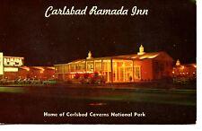 Night View-Ramada Inn Hotel-Carlsbad-New Mexico-Vintage Advertising Postcard