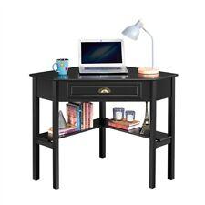 Wood Corner Computer Desk Workstation w/Storage Drawer & Shelves for Home Office