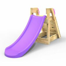 Rebo Free Standing Garden Wave Slide with Wooden Platform - 3 Sizes in 3 Colours