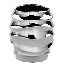 Fink FABIA Übertopf Vase Keramik Silberfarben 127716 Blumentopf Topf Dekotopf
