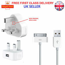 Apple Mains USB Charger Charging Adapter with 3M Cable For iPod Nano 4th 5th 6th