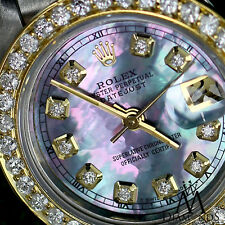 Rolex 31mm Datejust 18K & SS Tahitian MOP Mother of Pearl with Diamond Numbers