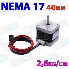 Motor NEMA 17 40mm 1,2A 2,6kg/cm 1,8º 42STH40 1204A CNC Impresora 3D 2 fases - A