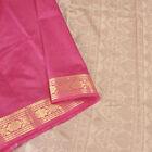Sanskriti New Pink Saree Art Silk Fabric Zari Border Woven Sari With Blouse Pc