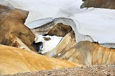 ISLANDE terre de feu et de glace tirage photo original signé