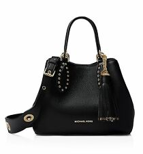 Michael Kors Bag Handbag Brooklyn Sm Tomb Messenger Black New