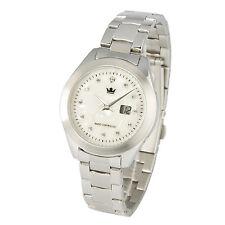 Damen Funkuhr (Junghans-Uhrwerk) Armbanduhr Perlmutt Kristallsteinchen 964.4105