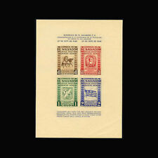 Salvador, Sc #C104, MNH, 1946, S/S, Horse, Flag, Coat of Arms, Rodriguez, CL051F