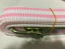 Banding or mold straps for ceramics 8 feet by 1 inch lot of 10 pink