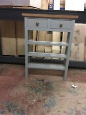 H80 x W50 x D20cm BESPOKE CONSOLE HALL KITCHEN TABLE 2 DRAWERS 3 SHELVES GREY