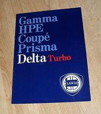 Lancia Delta Brochure 1984 - HF Turbo - GT1600 - 1300