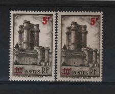 """FRANCE STAMP TIMBRE 491 """" VINCENNES 5F S.10F VARIETE COULEUR """"NEUFS xx LUXE R323"""