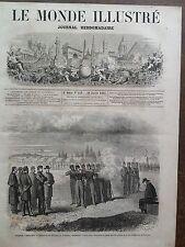 LE MONDE ILLUSTRE 1862 N 249 EXECUTION DU DESERTEUR WILLIAMM H.JOHNSON A FAIRFAX
