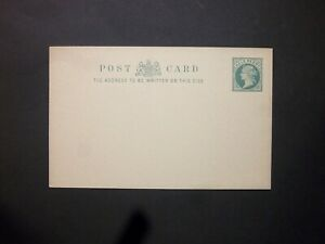 GB Postal Stationery 1901 QV 1/2d blue-green die II Postcard size f H&B CP40a