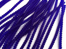 3 Strands 5x3mm Rondelle Sea Glass Frosted Bead Sapphire