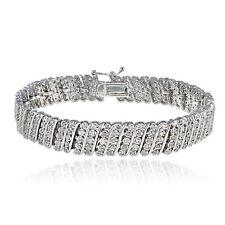 2.00 Ct TDW Diamond Wave Tennis Bracelet