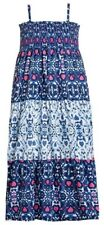 CARTERS OshKosh B'Gosh DRESS Smocked Maxi Sundress BLUE PINK Summer | 4-7 Years