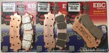 Honda GL1800 Gold Wing (2018) EBC Sintered FRONT and REAR Disc Brake Pads