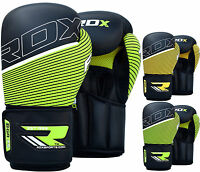 RDX Leather Boxing Gloves Fight Punching Bag MMA Muay Thai Grappling Kick F6