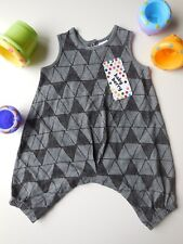 CUTE BABY BOY HARLEQUIN ROMPER PLAYSUIT OUTFIT CLOTHES SIZE 0000 NEWBORN