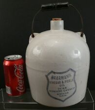 Antique Adv Jug Haarmann Vinegar & Pickle Co Pure Catsup Omaha Neb ( Red Wing ?)