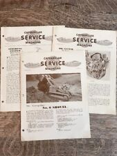 3 Vintage Caterpillar Service Magazines 1953 DW21 D6 Tractor Oil Clutch Shovel