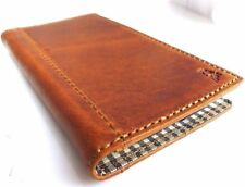 genuine natural leather vintage Case for HTC One M7 cover book wallet slim cover