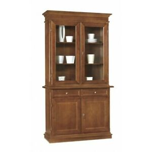 Display Cabinets Color Walnut, 2 Panel (383)