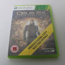 DEUS EX REVOLUTION - MICROSOFT XBOX 360 - PROMO GAME - MINT